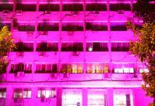 صورة دعمالمرضى سرطان الثدى.. التضامن تضىء مبناها باللون الوردي