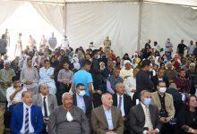 صورة وزيرة الهجرة ومحافظ بني سويف يعقدان لقاء جماهيريا مع أهالي قرية الحرجة